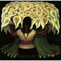 """Rivera: """"Flowers"""" 30x40"""